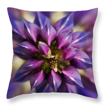 Lupine Kaleidoscope Throw Pillow