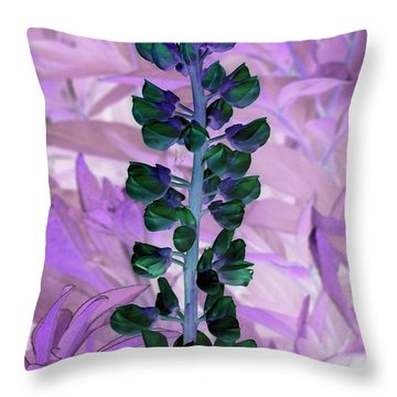 Lupine Negative Throw Pillow by Margaret Newcomb