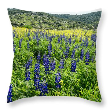 Lupines Field Throw Pillow