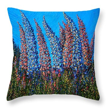 Lupins - Study No. 1 Throw Pillow