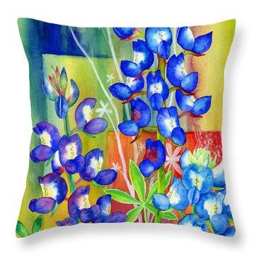 Lupinus Texensis Throw Pillow