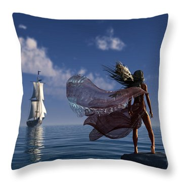 Lure Of The Siren... Throw Pillow