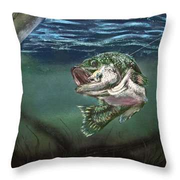 Lured In Throw Pillow