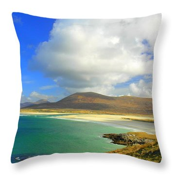 Luskentyre Beach  Throw Pillow by The Creative Minds Art and Photography