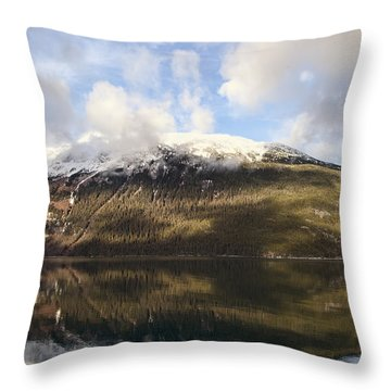 Lutak Inlet Reflections Throw Pillow