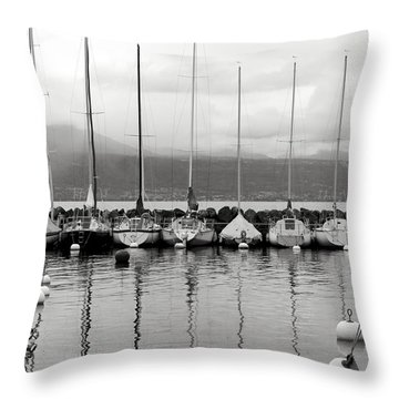 Lutry Port Throw Pillow by Colleen Williams