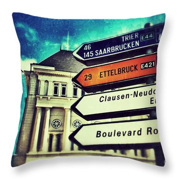 Luxembourg City Throw Pillow