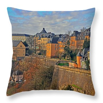 Luxembourg Fortification Throw Pillow