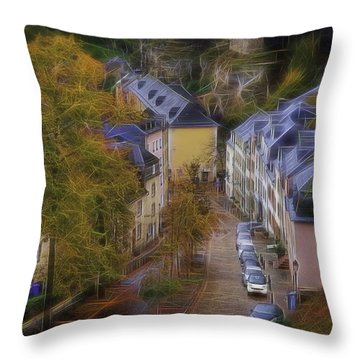 Luxembourg - Grund Throw Pillow by Maciej Markiewicz