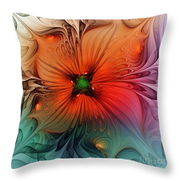 Luxury Blossom Dressed In Velvet And Silk Throw Pillow