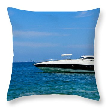 Luxury Boat Throw Pillow