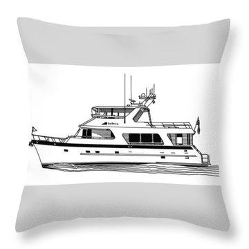 Luxury Motoryacht Throw Pillow by Jack Pumphrey