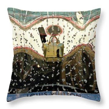 Lv Gold Bag 01 Throw Pillow