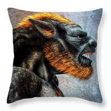 Lycan Throw Pillow by Bob Orsillo