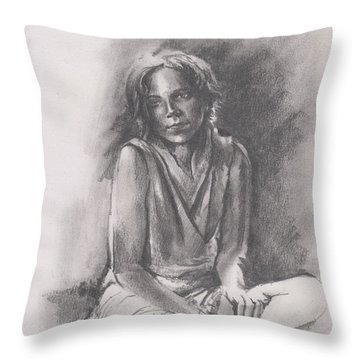 Lydia Sketch Throw Pillow