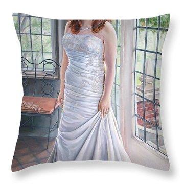 Lydia's Wedding Portrait Throw Pillow