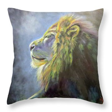 Lying In The Moonlight, Lion Throw Pillow