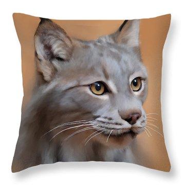 Lynx Portrait Throw Pillow