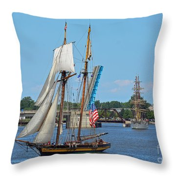 Lynx Topsail Schooner Throw Pillow