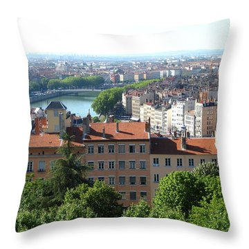 Lyon From Above Throw Pillow by Dany Lison