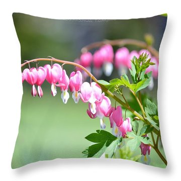 Lyre Flower  Throw Pillow by Sonali Gangane