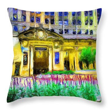 Lyric Opera House Of Chicago Throw Pillow