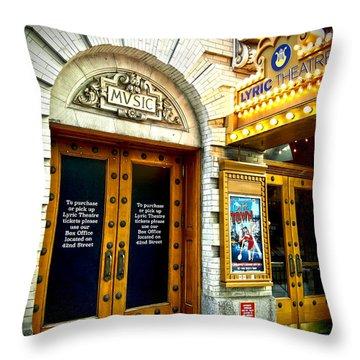 Lyric Theatre - Music Throw Pillow
