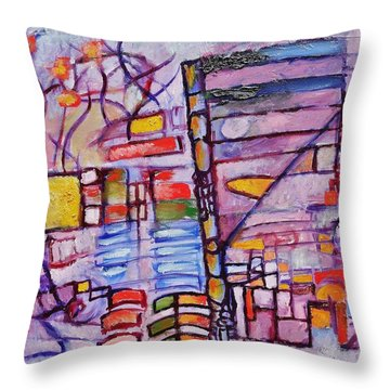 Lysergic Descriptions Throw Pillow by Jason Williamson