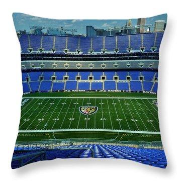 M And T Bank Stadium Throw Pillow