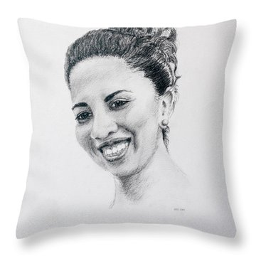 M Throw Pillow by Daniel Reed