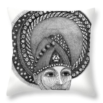 Throw Pillow featuring the drawing . by James Lanigan Thompson MFA