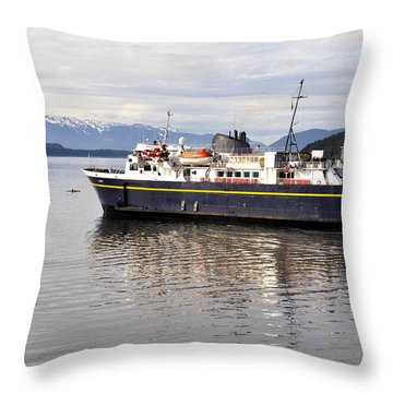 Throw Pillow featuring the photograph M/v Leconte by Cathy Mahnke