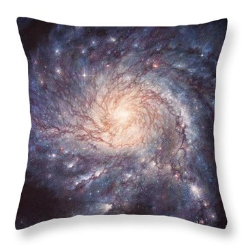 M101 Pinwheel Galaxy Throw Pillow
