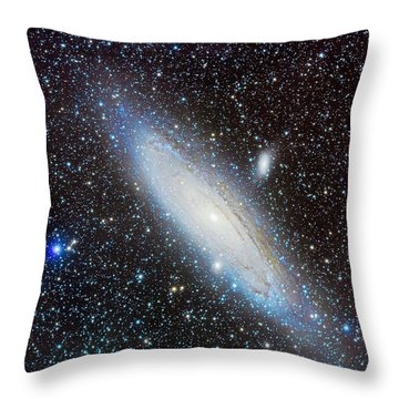 M31 Andromeda Galaxy With Companions Throw Pillow