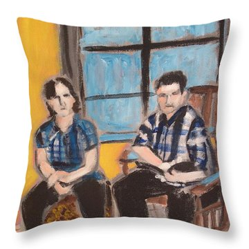 Ma And Pa Throw Pillow by Rivkah Singh