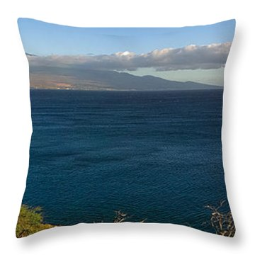 Maalea Bay Overlook   Throw Pillow