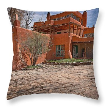 Mabel Dodge Luhan House  Throw Pillow by Charles Muhle
