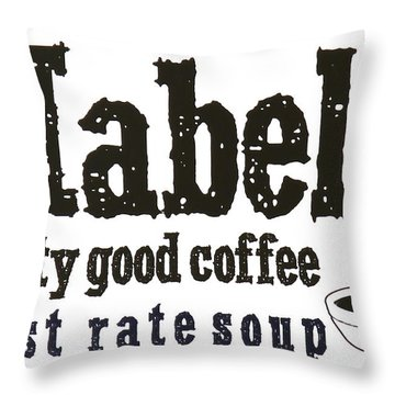 Mabels Cafe Throw Pillow by Jeff Gater