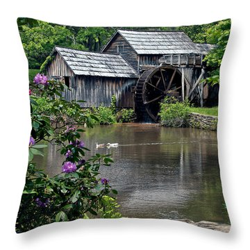 Mabry Mill In May Throw Pillow