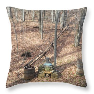 Mabry Mill Moonshine Still Replica Throw Pillow