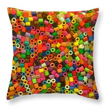 Macaroni Beads Throw Pillow