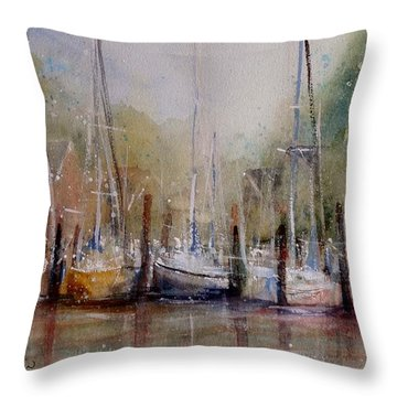 Macatawa Morning Throw Pillow