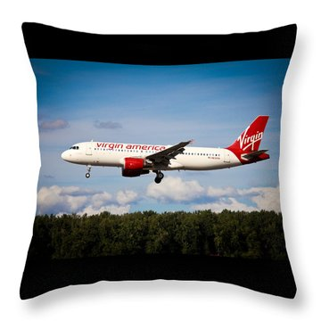 Airplanes Throw Pillow featuring the photograph Mach Daddy by Aaron Berg