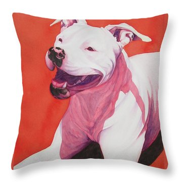 Machappy Throw Pillow