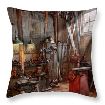 Machinist - The Modern Workshop  Throw Pillow