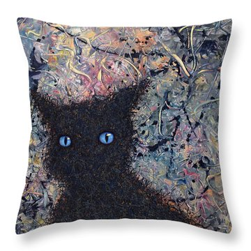 Machka Memory Throw Pillow by James W Johnson