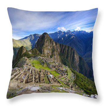 Machu Picchu Throw Pillow by Alexey Stiop