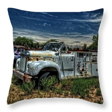 Throw Pillow featuring the photograph Mack Fire Truck by Ken Smith