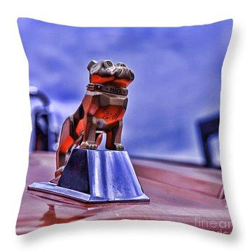Mack The Bulldog Mascot Throw Pillow