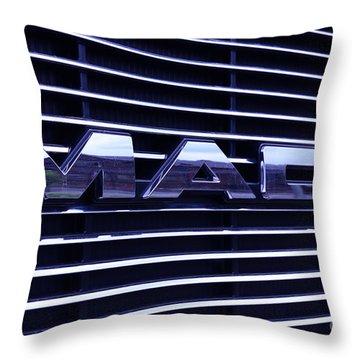 Mack Truck Grill Throw Pillow